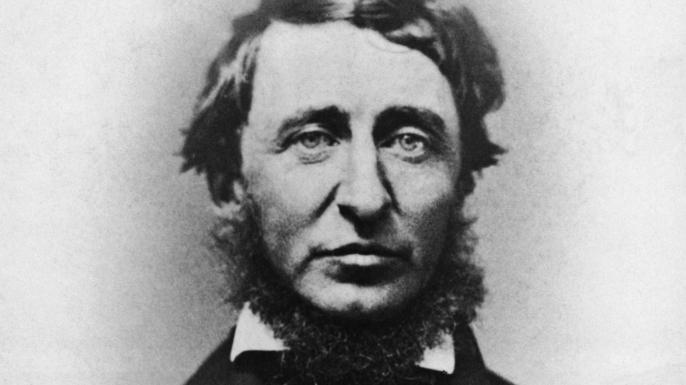 Henry D. Thoreau in portrait, undated photograph. (Credit: Bettmann/Getty Images)