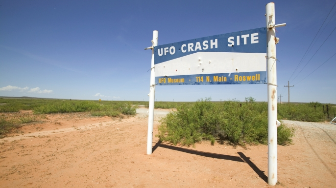 Roswell UFO Museum Sign. (Credit: David Zaitz/Getty Images)