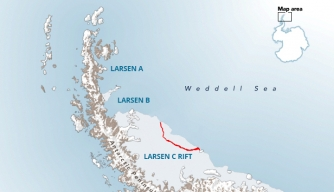 Delaware-Sized Iceberg Breaks Off from Antarctica, May Affect World Maps