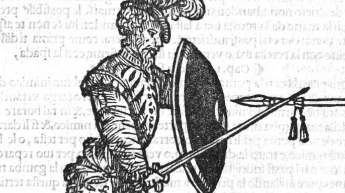 """Illustration from """"Opera nova de Achilee Marozzo Bolognese, mastro generale de larte de larmi"""". (Credit: Achilee Marozzo/PD-1923)"""