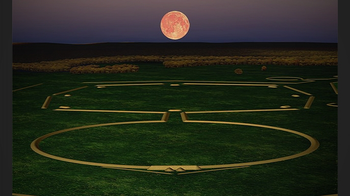 Digital model of the Newark Octagon Earthworks. (Credit: Fusion of Horizons/Flickr Creative Commons/CC BY 2.0)
