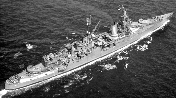 USS Indianapolis, 1945. (Credit: Aviation History Collection/Alamy Stock Photo)