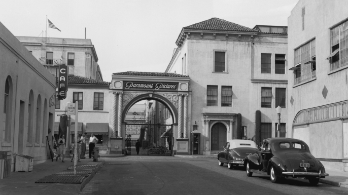 The Paramount Pictures studios in Los Angeles, California, 1947. (Credit: Gene Lester/Getty Images)