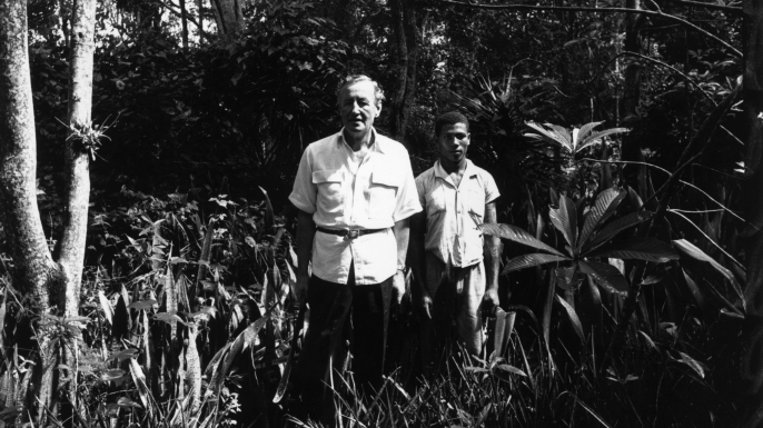Ian Fleming near his home Goldeneye in Jamaica. (Credit: Harry Benson/Express/Getty Images)