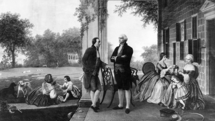 George Washington hosting at Mount Vernon. (Credit: Bettmann/Getty Images)