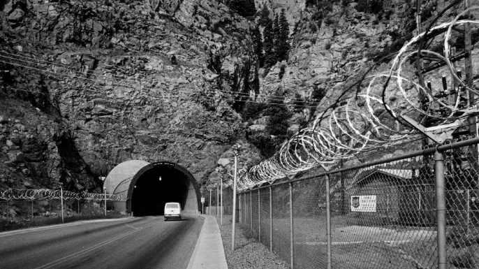 North American Air Defense Command at the Cheyenne Mountain Air Force Station. (Credit: Lyn Alweis/The Denver Post via Getty Images)
