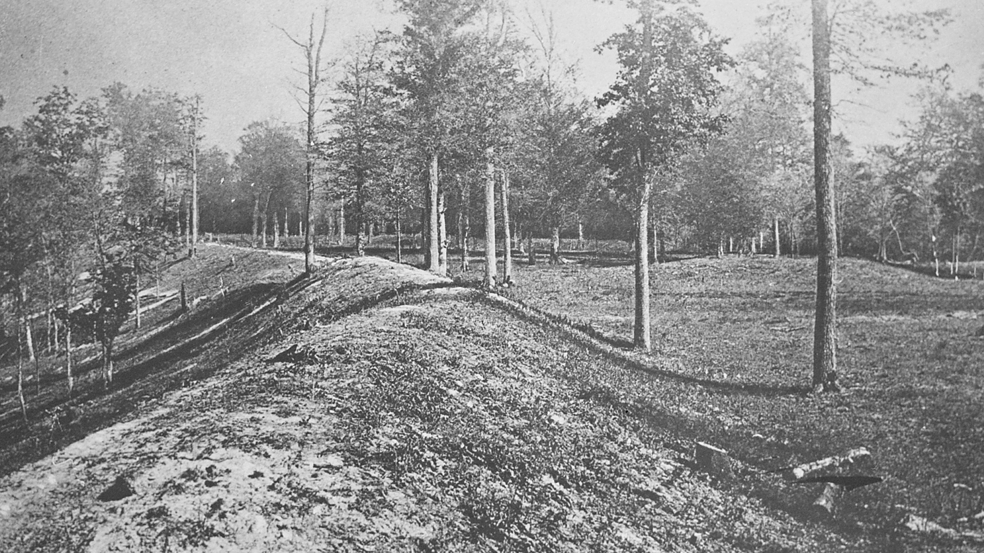 Mounds that form the Newark Earthworks. (Credit: The National Archives)