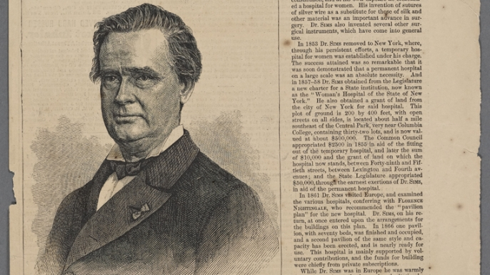 Portrait of J. Marion Sims. (Credit: The New York Public Library)