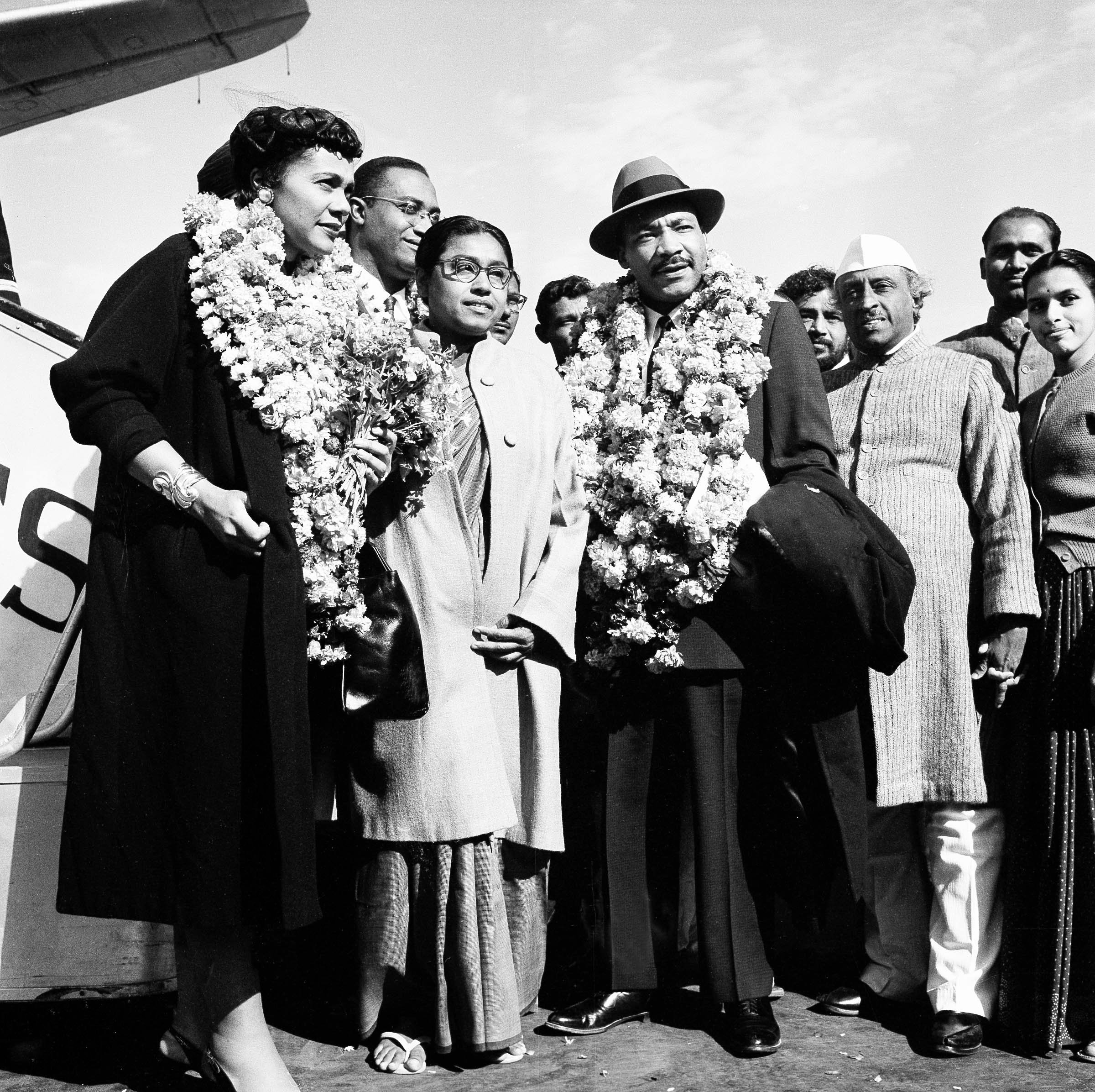 how did coretta and martin luther king meet president
