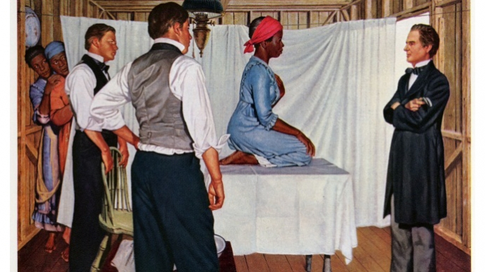 Illustration from a pharmaceutical art print distributed by the Parke-Davis company in 1961. (Credit: Historical Collections & Archives, Oregon Health & Science University)