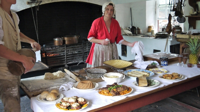 Historic Foodway's kitchen in Colonial Williamsburg. (Credit: Brandy Berthelson/Flickr/CC BY-NC 2.0)
