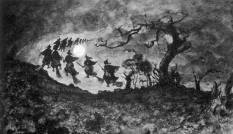 The Witches Ride, 1813. (Credit: Chronicle/Alamy Stock Photo)