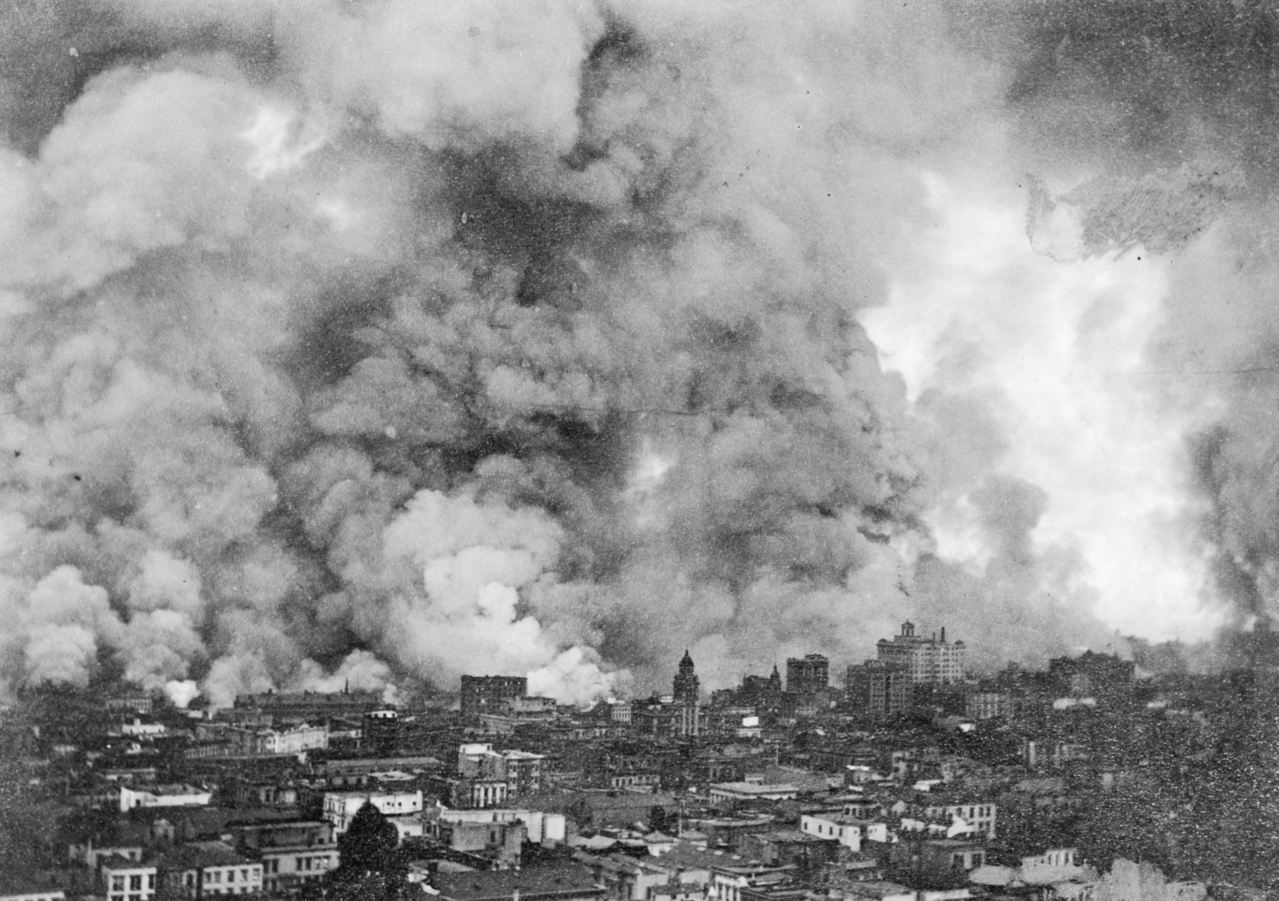 raging fire over san francisco after the 1906 earthquake credit bettmann getty