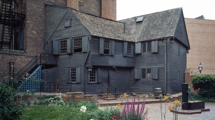 The historic Paul Revere House in Boston. (Credit: VCG Wilson/Corbis via Getty Images)