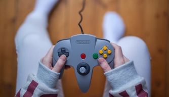 Controller for the Nintendo 64 video game console. (Credit: Chris Johnsson/Alamy Stock Photo)