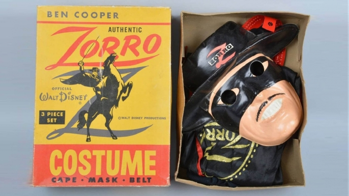 1950s Disney Zorro costume from Ben Cooper Inc. (Courtesy of LiveAuctioneers.com Archive and Milestone Auctions)