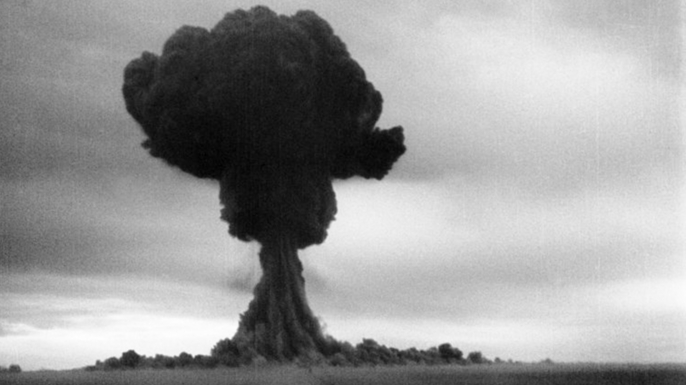 The first Soviet atomic bomb test, 1949. (Credit: Sovfoto/UIG via Getty Images)