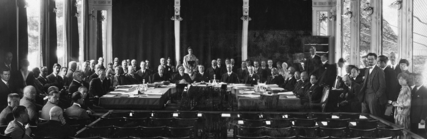 The first informal meeting of the League of Nations in Geneva. (Credit: Bettmann/Getty Images)