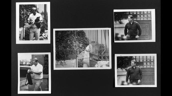 These images were submitted as evidence in the Kennedy assassination case. The men were suspected of being a possible conspirators after being seen visiting the Soviet embassy in Mexico City, the same time Lee Harvey Oswald was in Mexico. (Credit: Corbis via Getty Images)