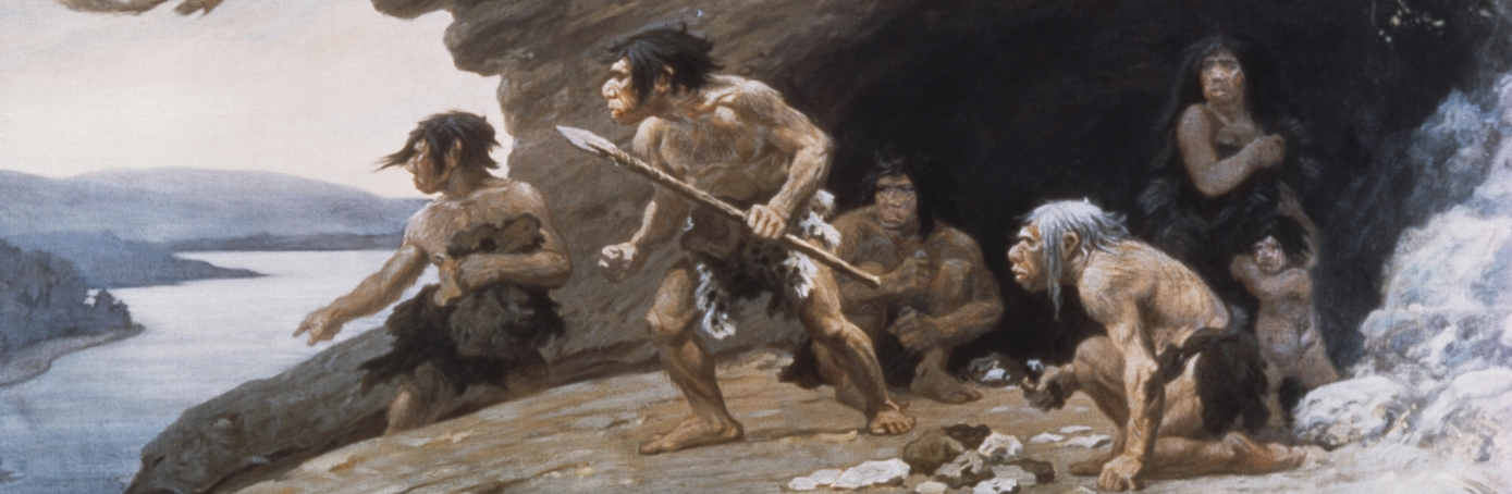 Neanderthal Caveman. (Credit: Science History Images/Alamy Stock Photo)
