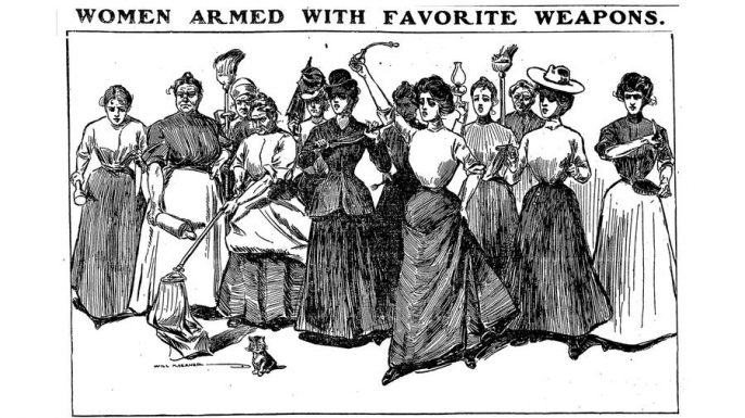 An illustration from the Chicago Daily Tribune, September 16, 1900. (Credit: The Chicago Tribune)