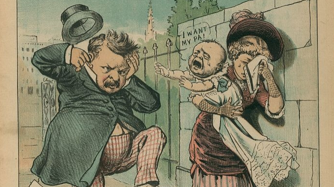 """""""Another voice for Cleveland"""", 1884. (Credit: The Library of Congress)"""