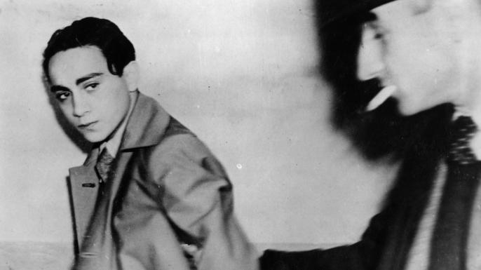 Polish assassin 17-year-old Herschel Grynszpan after his arrest in Paris where he had shot German envoy Herr Ernst von Rath, Third Secretary at the German Embassy in Paris. (Credit: Central Press/Getty Images)
