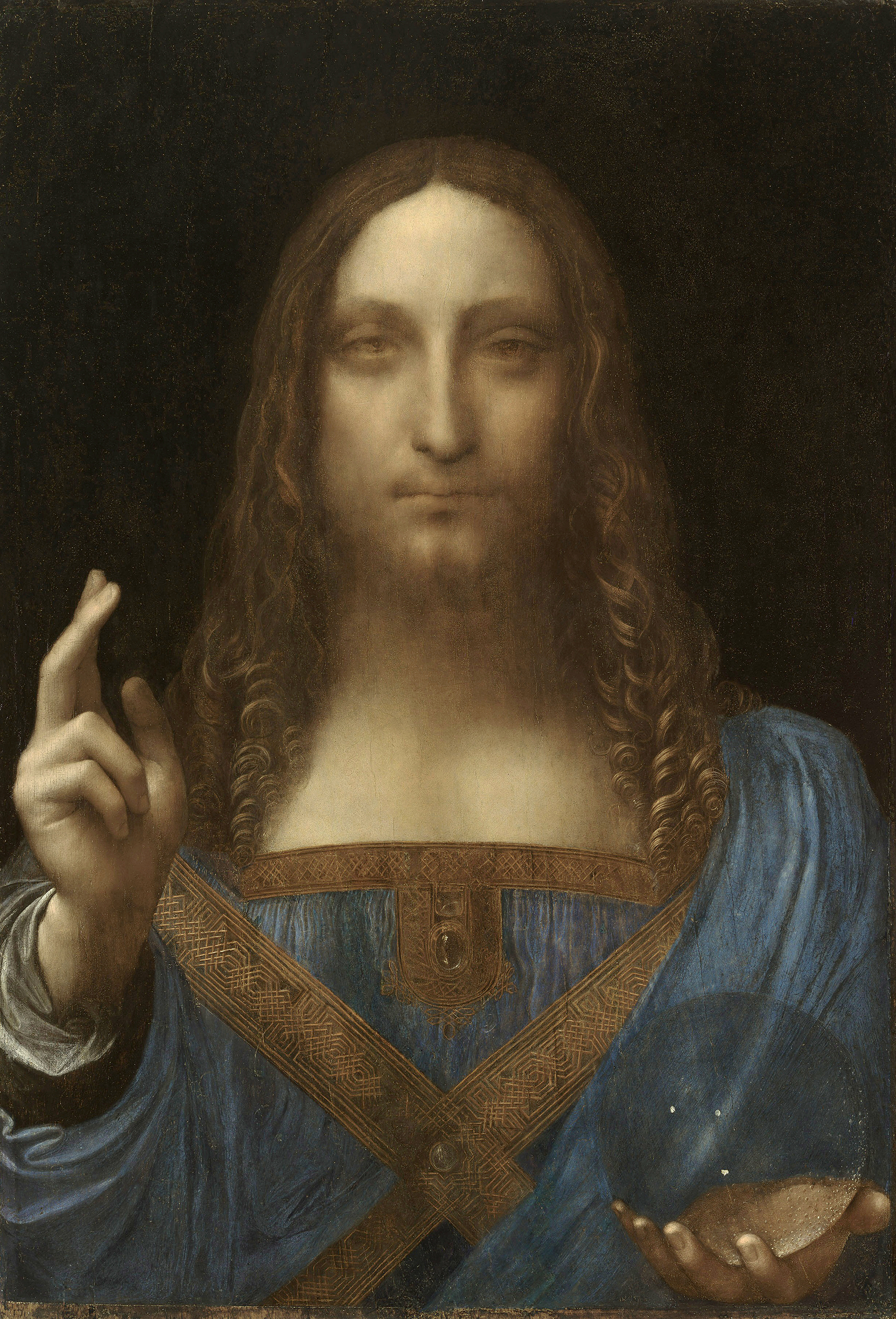 Salvator Mundi painting by Leonardo da Vinci. (Credit: VCG Wilson/Corbis via Getty Images)