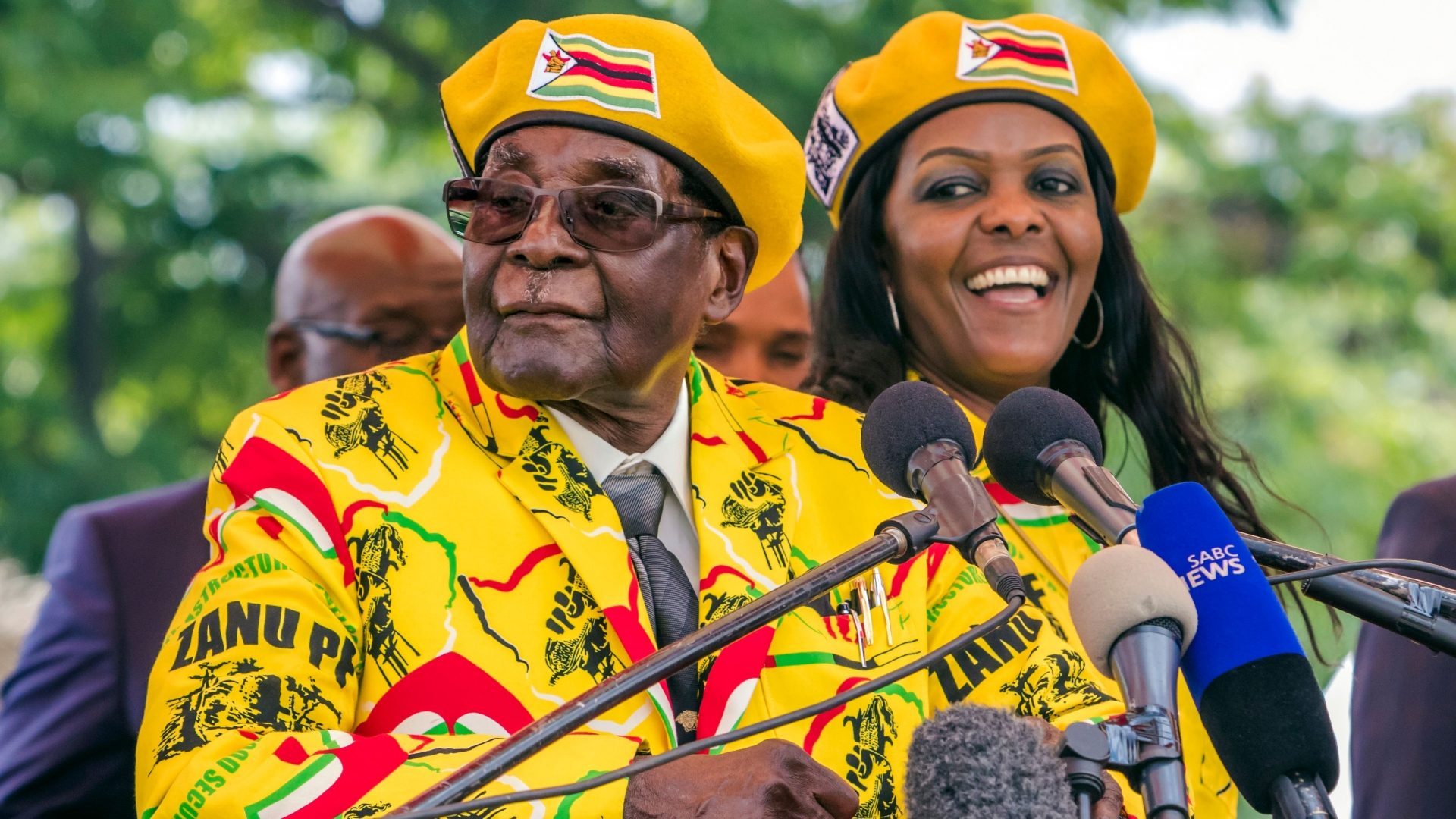Zimbabwe's President Robert Mugabe and wife Grace Mugabe, who had recently become the party's next Vice President in November 2017. (Credit: Jekesai Njikizana/AFP/Getty Images)