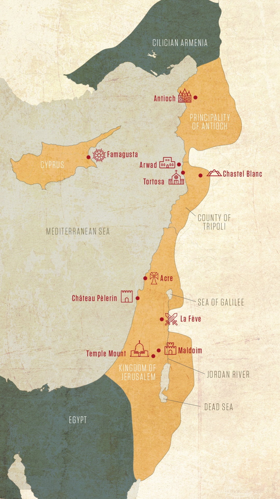 The Holy Land, c. 1170