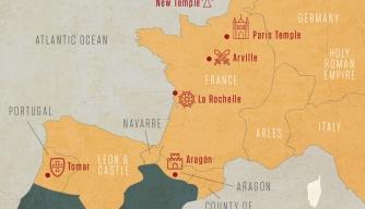 Map: Top Templar Sites in Western Europe