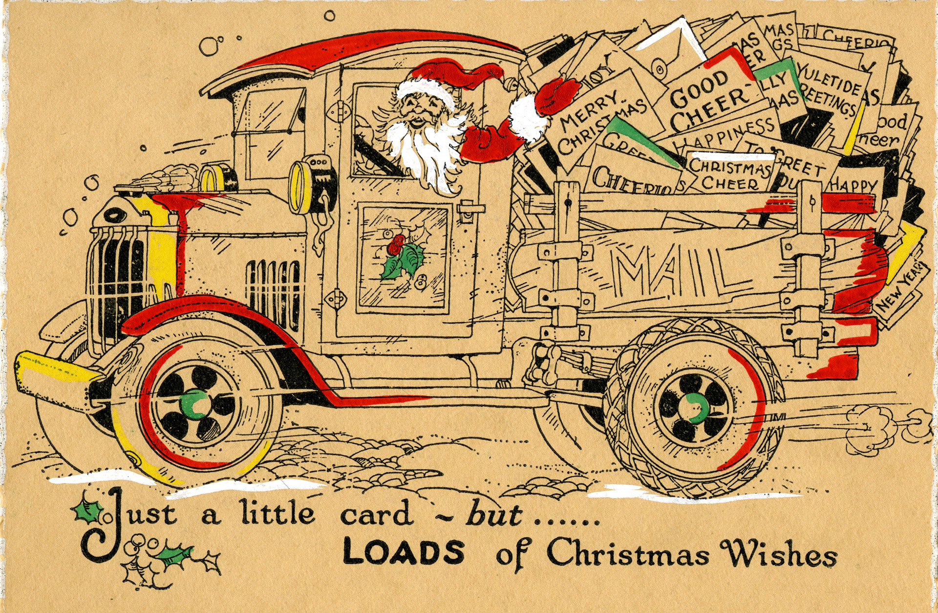 The war of words behind happy holidays history in the headlines 1925 hallmark christmas card courtesy of the hallmark archives hallmark cards inc kristyandbryce Image collections