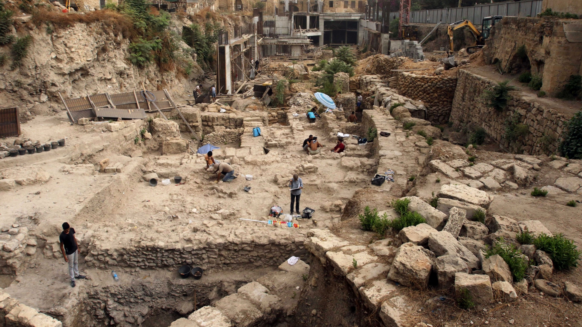 Excavation site in the Lebanese city of Sidon. (Credit: Mahmoud Zayyat/AFP/Getty Images)