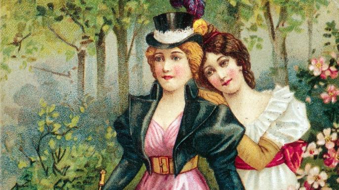 Two young women, 1896. (Credit: Fototeca Gilardi/Getty Images).
