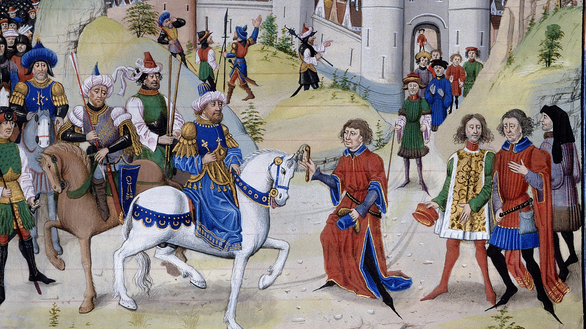 Saladin's forces recapture Jerusalem from the crusaders, 1187. (Credit: Leemage/Corbis via Getty Images)