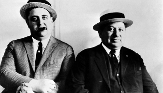"Police officers Isadore ""Izzy"" Einstein and Moe Smith, 1931. The two worked together as prohibition agents from 1920-1925, making over 4,000 arrests during prohibition.  (Credit: AP Photo)"