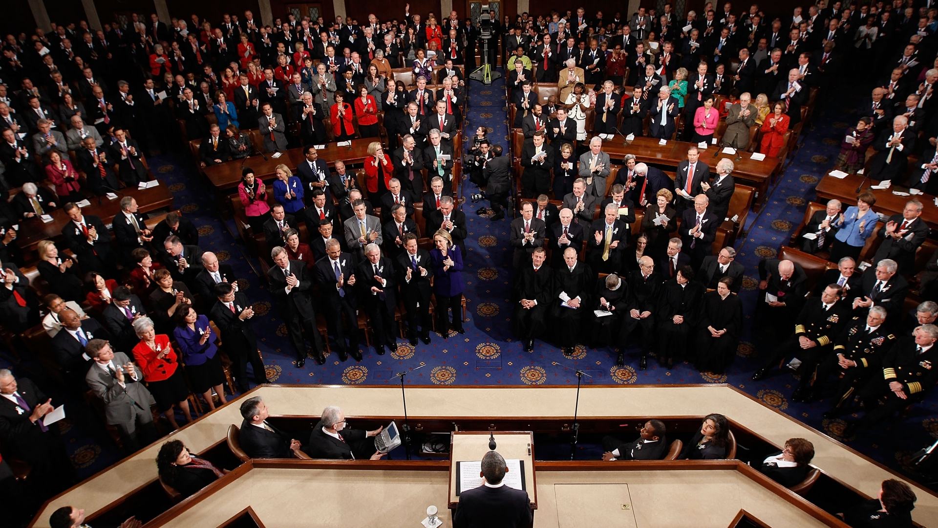 U.S. President Barack Obama delivering his State of the Union speech on January 25, 2011 in Washington, DC. (Credit: Chip Somodevilla/Getty Images)