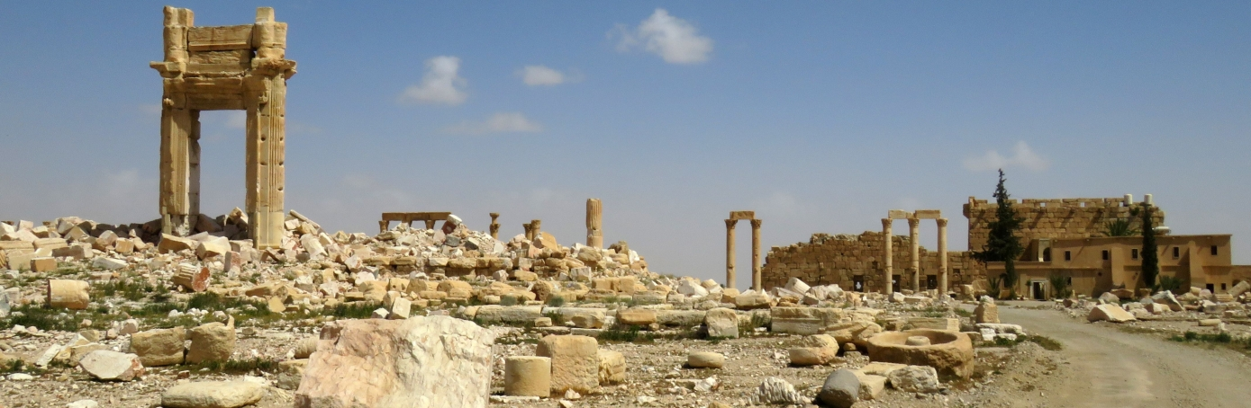 Parts of the ancient city of Palmyra, after government troops recaptured the UNESCO world heritage site from the Islamic State  group. (Credit: Stringer/AFP/Getty Images)