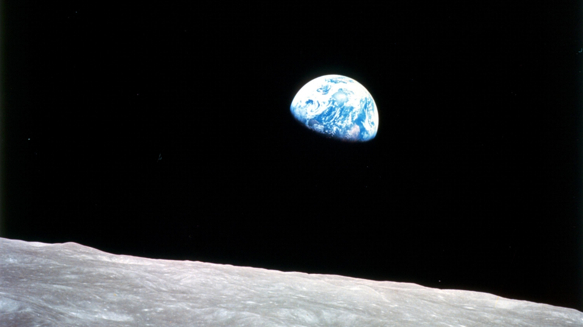 A shot of Earthrise from the Apollo 8 mission. (Credit: NASA)