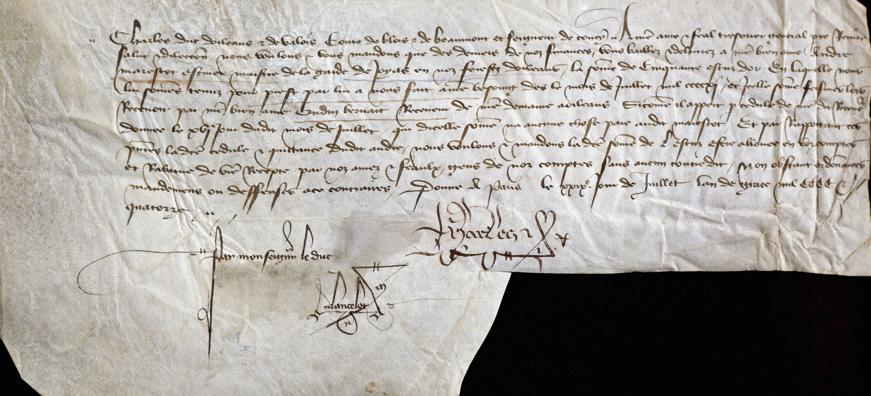 One of the many letters written by Charles Duke of Orleans. (Credit: DeAgostini/Getty Images)