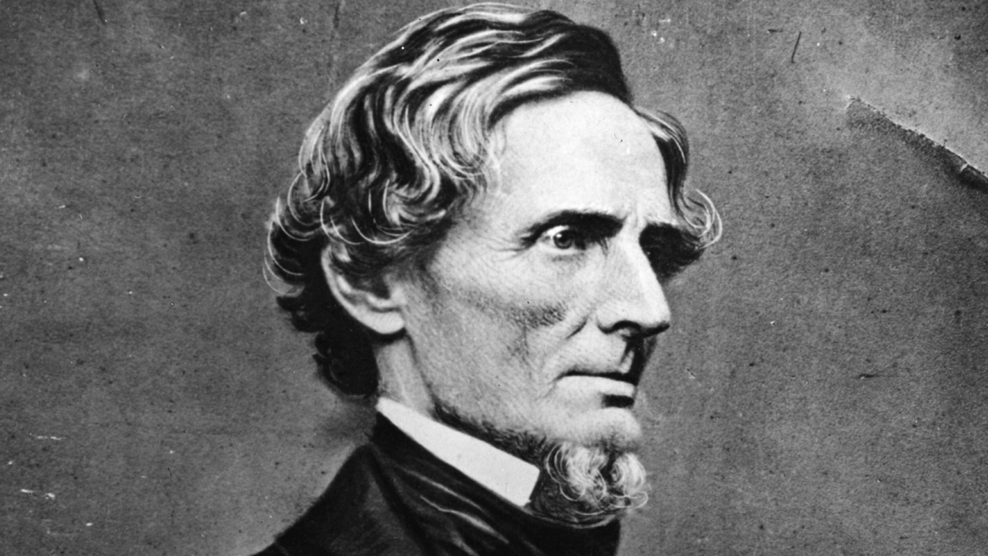 Jefferson Davis , the first and only President of the Confederate States of America, circa 1865. (Credit: Hulton Archive/Getty Images)