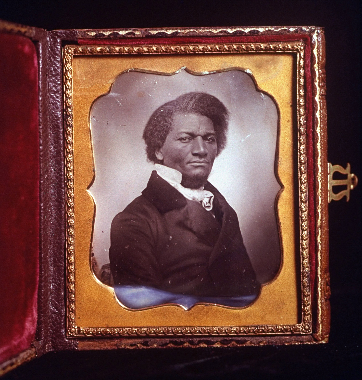Framed daguerreotype portrait of abolitionist Frederick Douglass. (Credit: J. R. Eyerman/The LIFE Picture Collection/Getty Images)