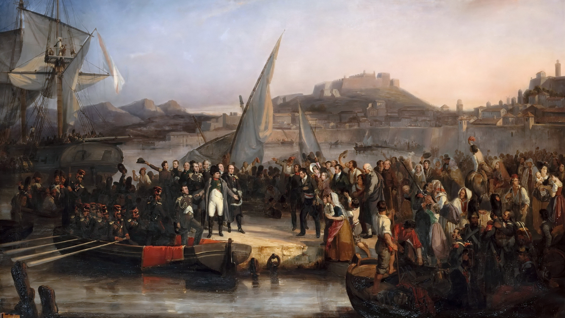 Napoleon leaving the island of Elba on February 26, 1815. (Credit: Fine Art Images/Heritage Images/Getty Images)