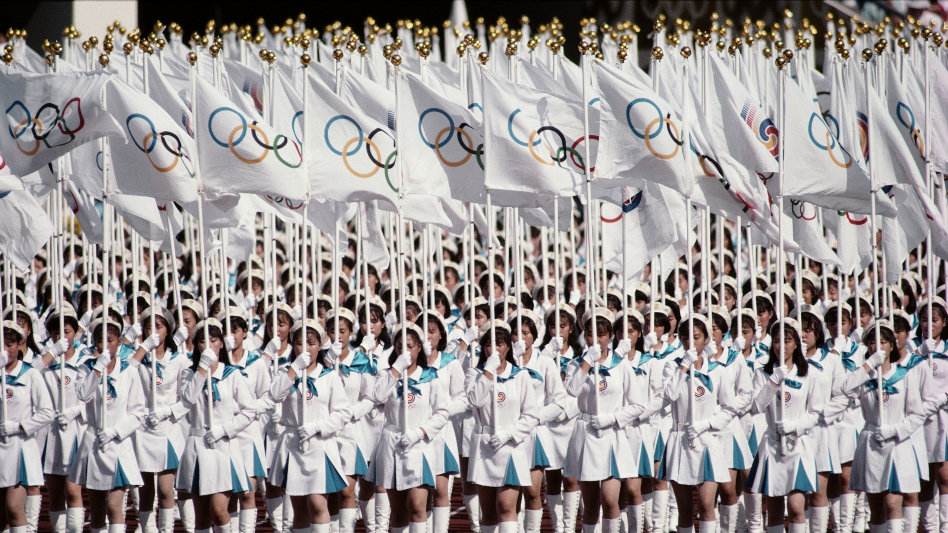 The Opening Ceremony of the XXIV Summer Olympic Games in Seoul, South Korea, 1988. (Credit: Gray Mortimore/Getty Images)