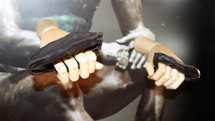 Rare Ancient Roman boxing gloves uncovered at Vindolanda. (Credit: The Vindolanda Trust)
