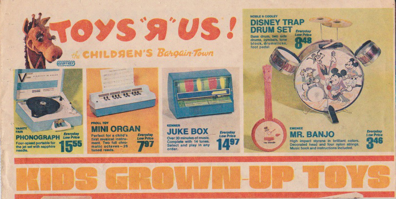 1970s Toys R Us ad, still associated with the Children's Bargain Town name. (Credit: Rusty Blazenhoff/Flickr Creative Commons/CC BY-NC 2.0)