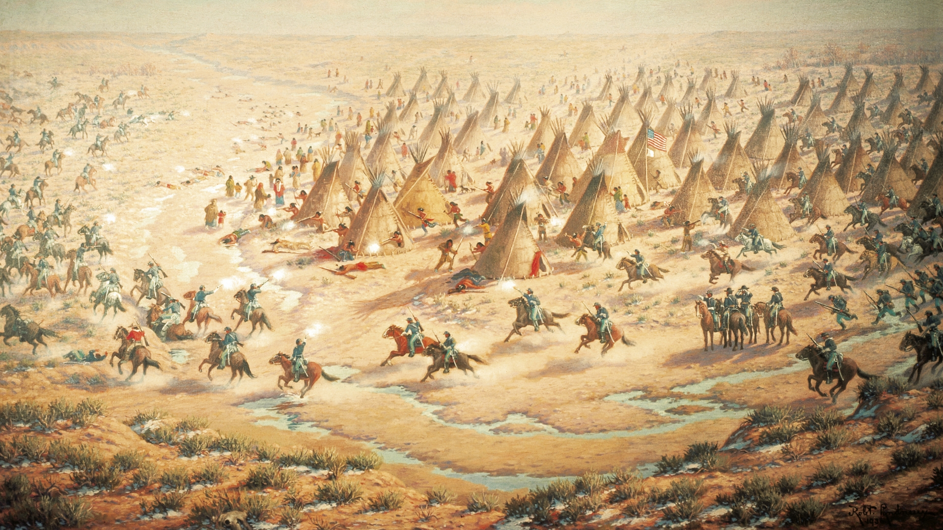 Sand Creek Massacre, 1864. (Credit: DeAgostini/Getty Images)