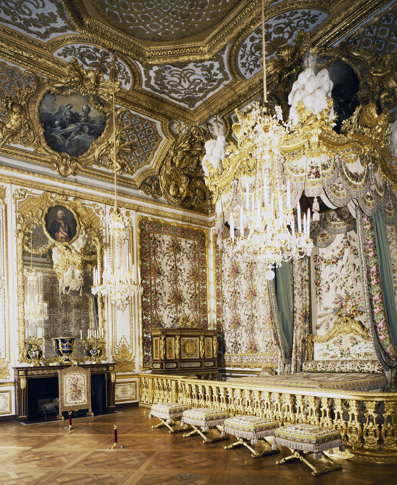 The queen's room in the Palace of Versailles. (Credit: DeAgostini/Getty Images)