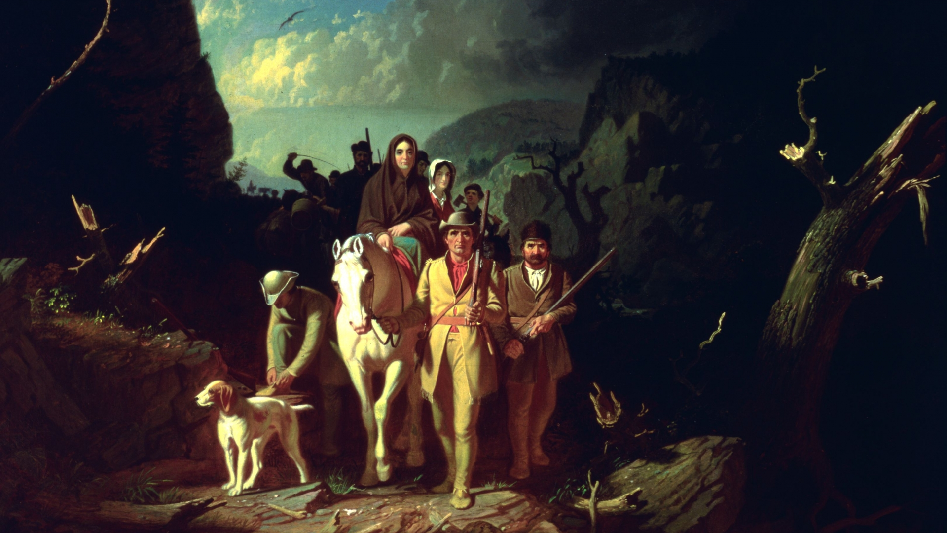 Daniel Boone leading a group of settlers, 1773. (Credit: MPI/Getty Images)