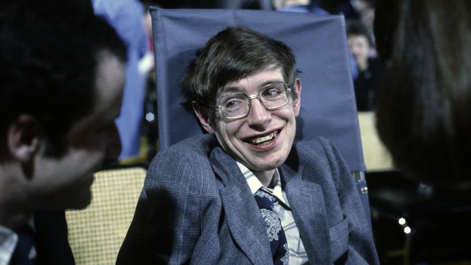 Cosmologist Stephen Hawking on October 10, 1979 in Princeton, New Jersey. (Credit: Santi Visalli/Getty Images)